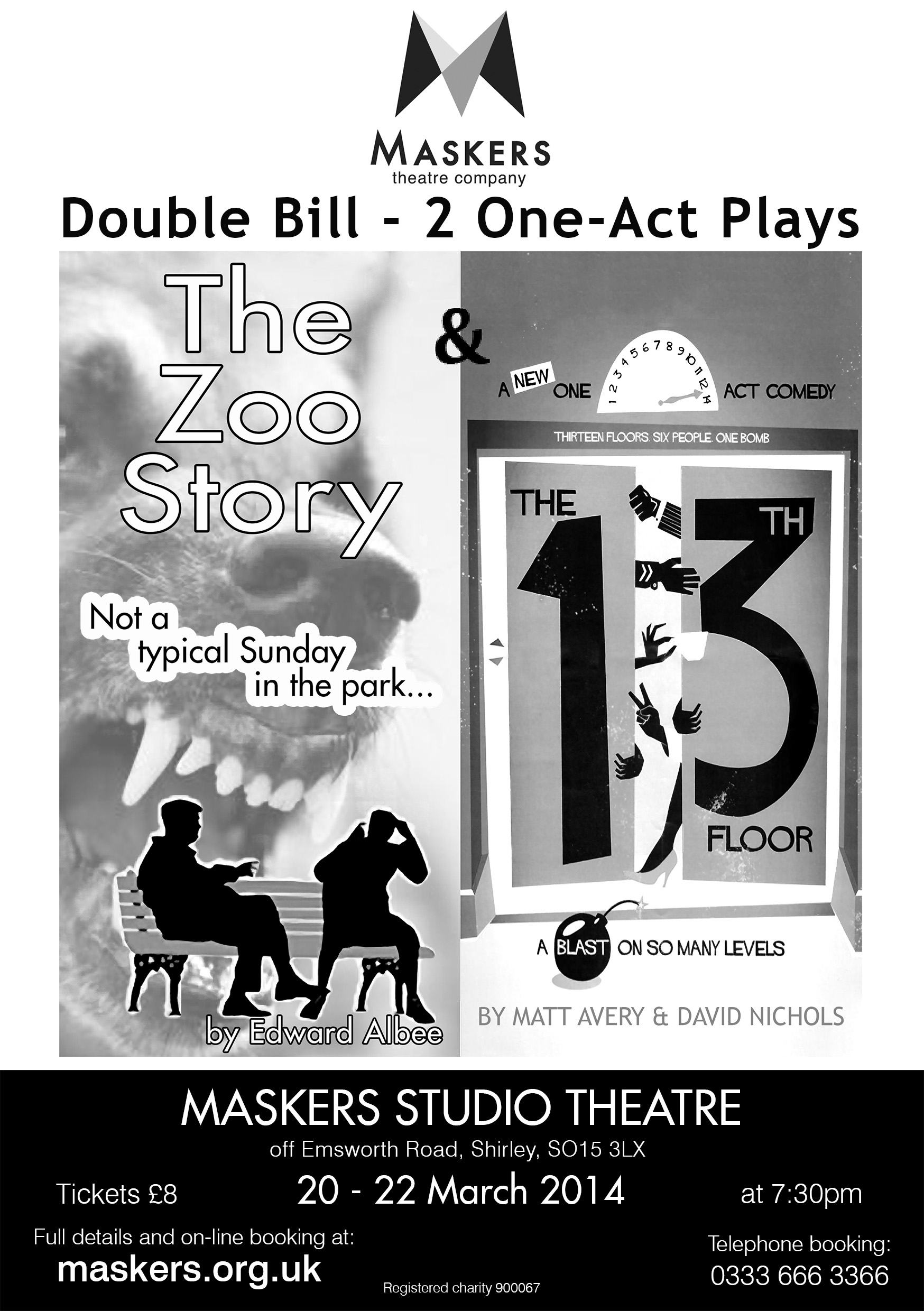 2 One Act Plays- Maskers Theatre Company